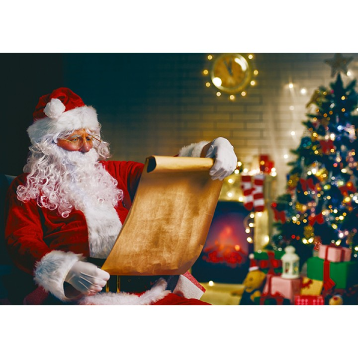 Santa Claus and the manuscript