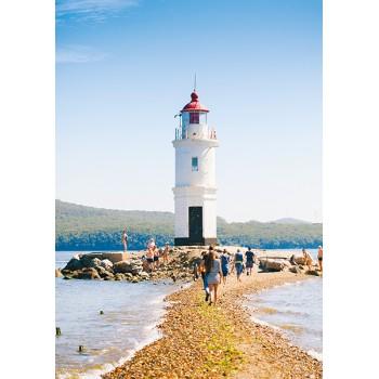 Lighthouse Tokarevskaya koshka. Vladivostok, Russia