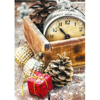 Clocks and fir cones