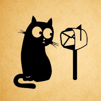 Stamp Cat and mailbox (d=40 mm)