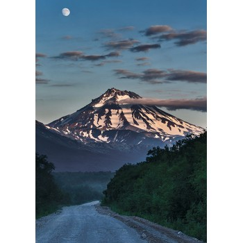 Road to Viluchinsky Volcano. Kamchatka, UNESCO