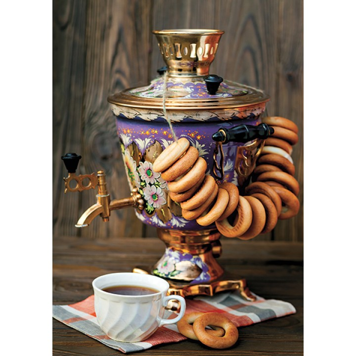 Tea with samovar and bagels
