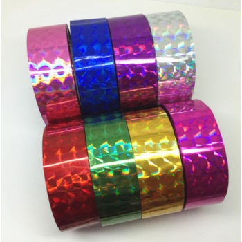 Holographic tape BLUE (width 1.8 cm, length 30 m)