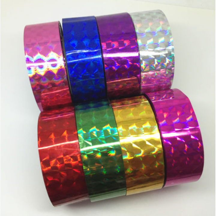 Holographic tape GOLD (width 1.8 cm, length 30 m)