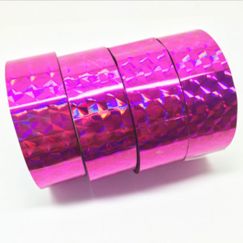 Holographic tape PINK (width 1.8 cm, length 30 m)