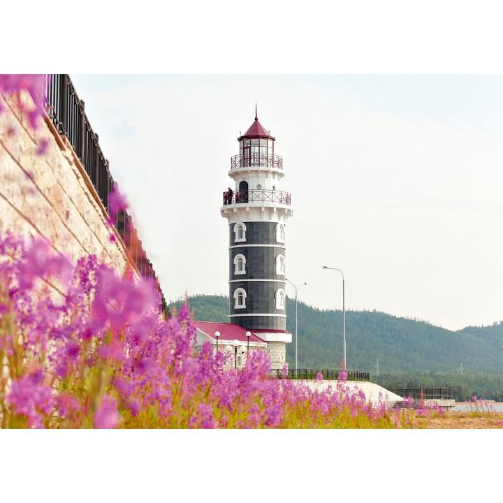 Lighthouse in Baikal harbor, Buryatia, Russia