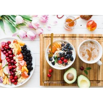 Summer breakfast on the table