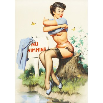 Pin Up. No swimming!