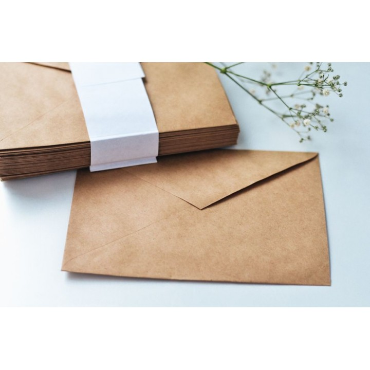 Craft envelopes (114*162 mm). 5 pieces