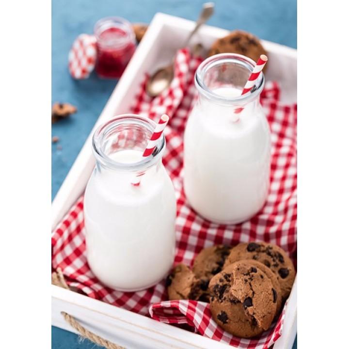 Yogurt in small bottles
