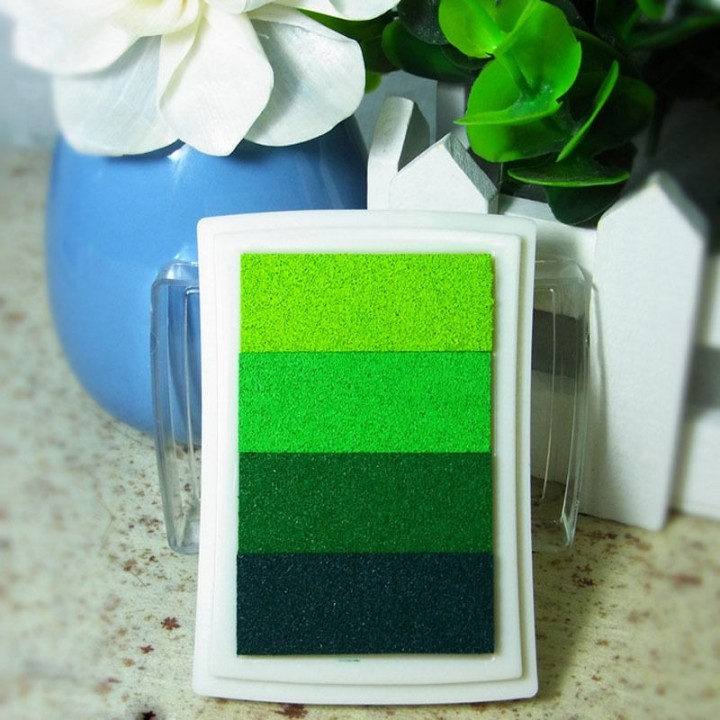 "Stamp pad ""Gradient"" GREEN"