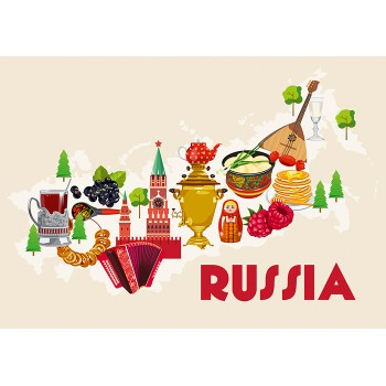 Map of Russia - traditional food