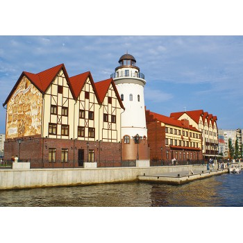 Lighthouse in fishers village, Kaliningrad