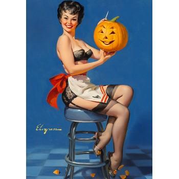 Pin Up. Halloween