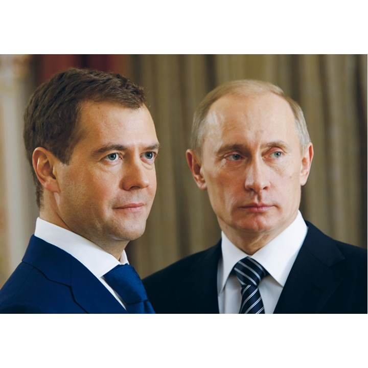 Putin and Medvedev