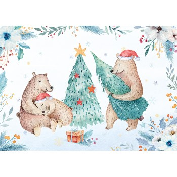 Bear family is getting ready for Christmas