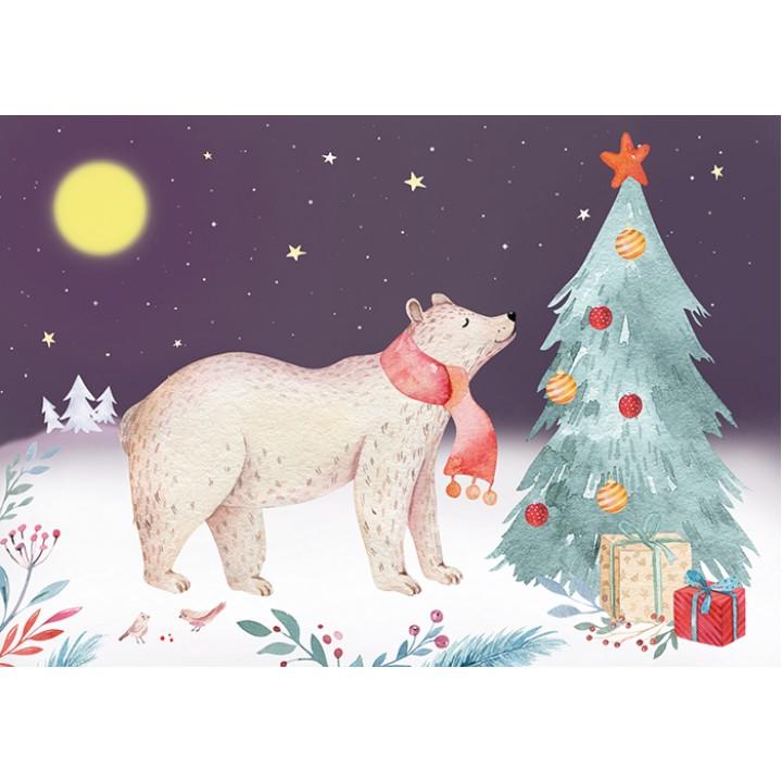 Bear in North Pole