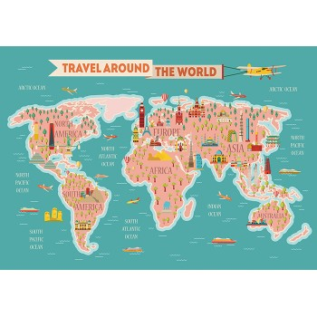 All over the world map