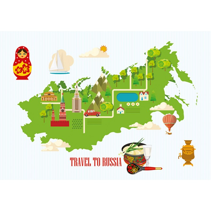 Travel to Russia (map)