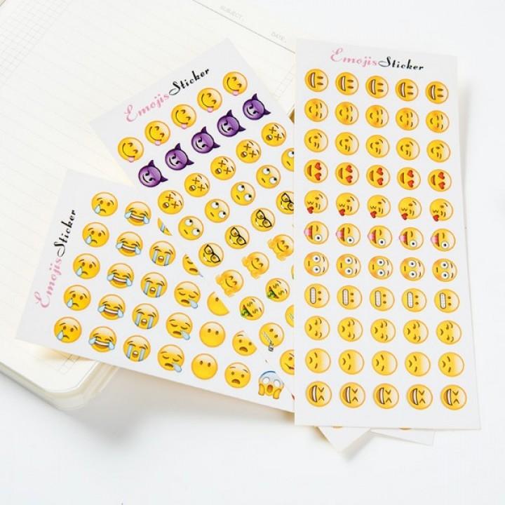 Set of stickers - Emojis (16 х 7 cm)