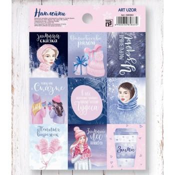 """Stickers """"Snow stories"""" (11 х 15,5 cm)"""
