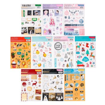"Set of stickers ""Everything for Christmas"" (10 sheets, 11 × 18 cm)"