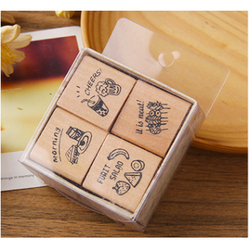 """Set of stamps """"Cheers"""" (4 pcs)"""
