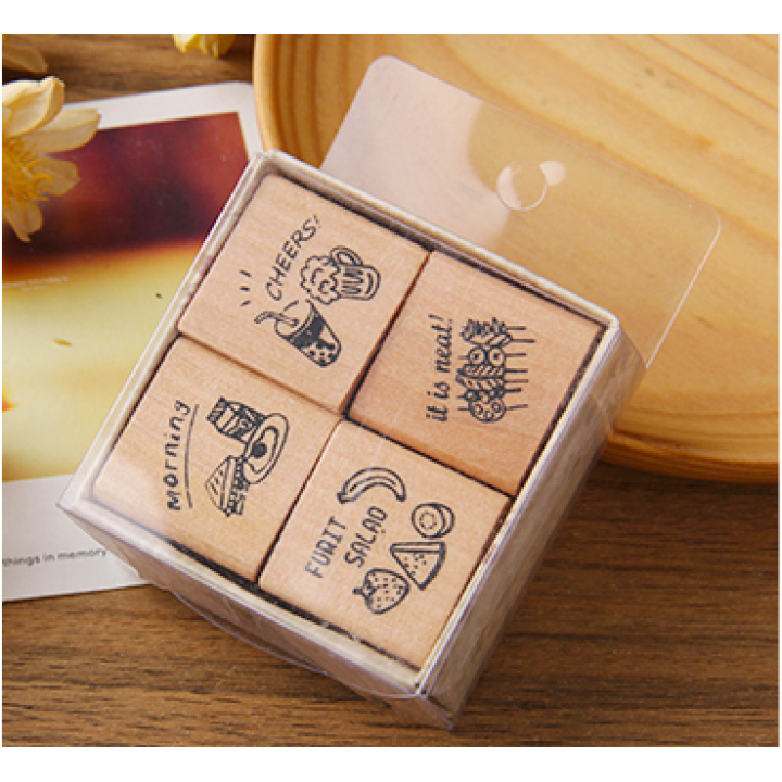 "Set of stamps ""Cheers"" (4 pcs)"