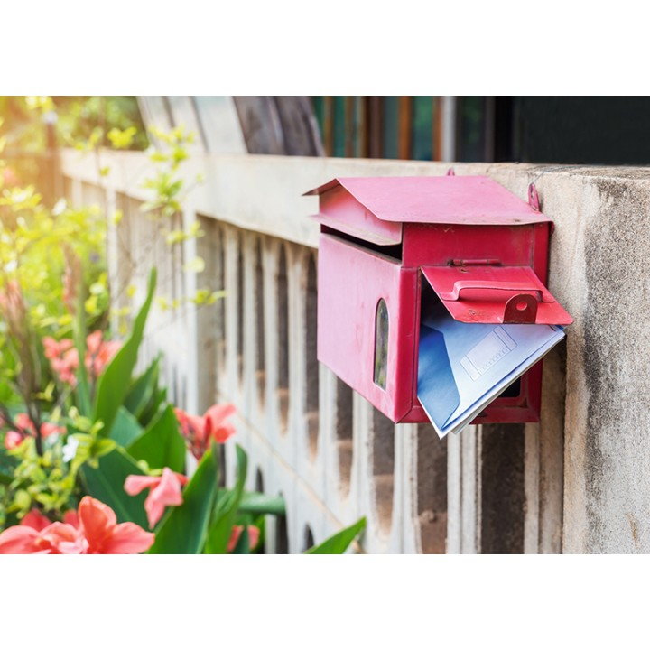 Mailbox and letters
