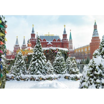 State Historical Museum and Moscow Kremlin in the winter, Russia