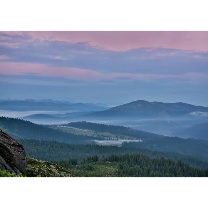 Sunrise in mountains. Ergaki national park, Russia.