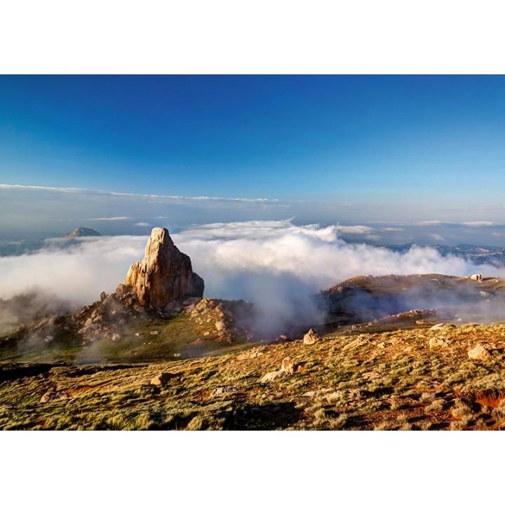 Panorama of Schalbus-Dag mountain, Dagestan, Caucasus, Russia