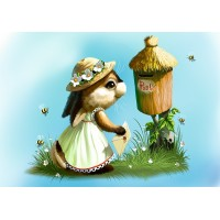 Bunny sending a letter