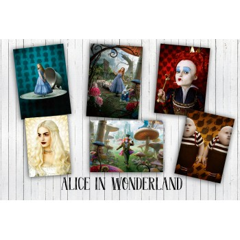 Alice In Wonderland (6 postcards, 14.5*10 cm)