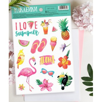 "Stickers ""I love summer"" (14 × 21 cm)"