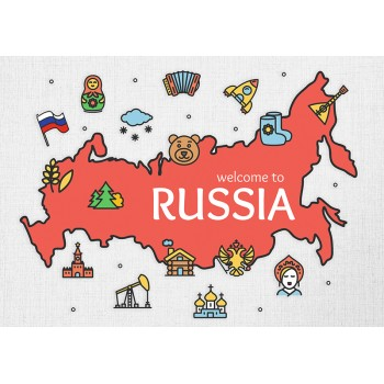 Map of Russia Welcome