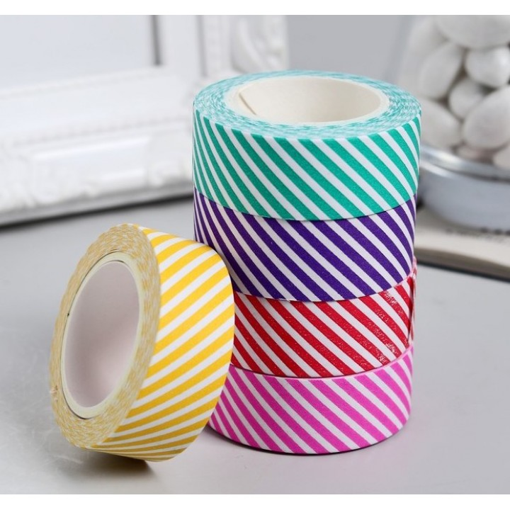 """Set of paper tapes """"Lines"""" (6 colors, width 1.5 сm)"""