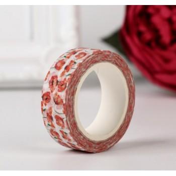 "Paper tape ""Poppies"" (width 1.5 сm)"