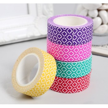 "Set of paper tapes ""Rhombus"" (6 colors, width 1.5 сm)"