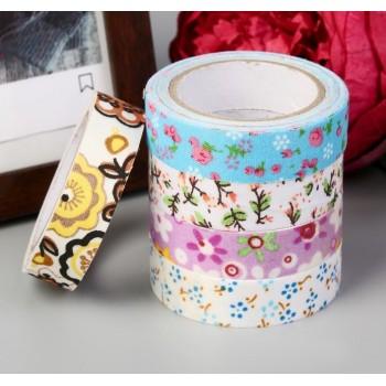 "Fabric tape ""Chintz flowers"" (random style, width 1.5 сm)"
