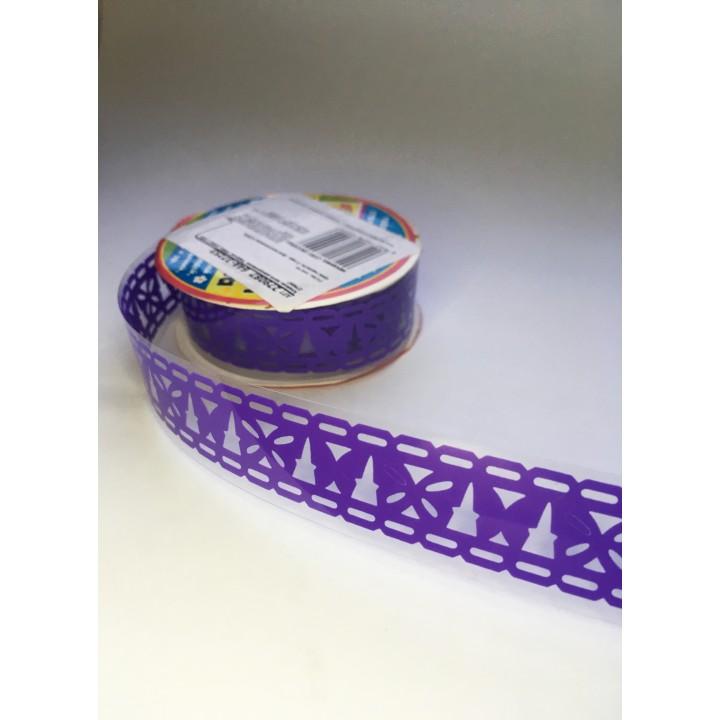 Tape-lace PURPLE (butterfly pattern, width 1.8 cm)