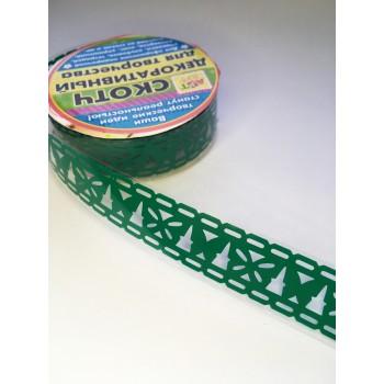 Tape-lace GREEN (butterfly pattern, width 1.8 cm)