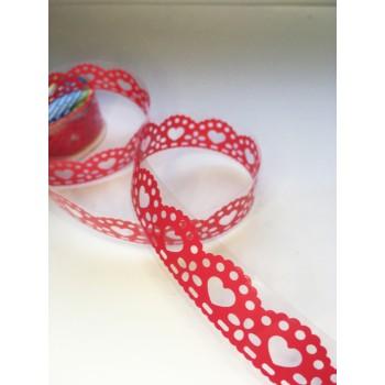 Tape-lace RED (random pattern, width 1.8 cm)