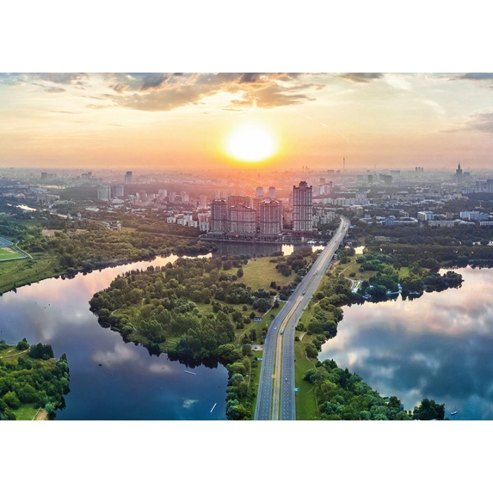 Aerial view of Strogino, Moscow