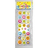 """Plastic stickers """"Smile #1"""" (7 х 17 сm)"""