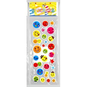 """Plastic stickers """"Smile #2"""" (7 х 17 сm)"""