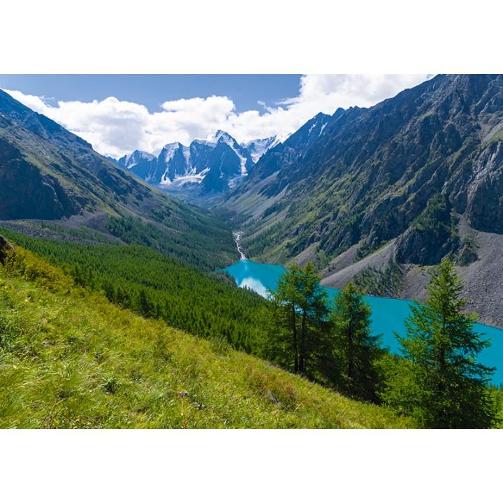 Lower Shavlinskoe lake, Altai