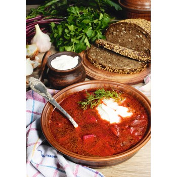 Borscht with black bread