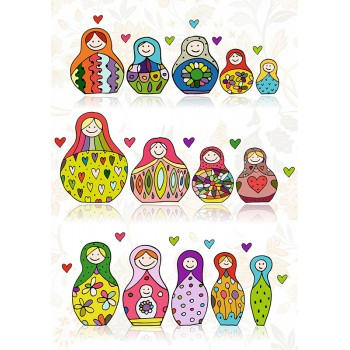 Multi russian dolls