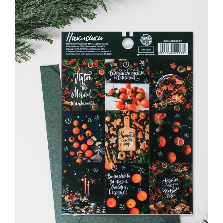 """Stickers """"Tangerines"""" (11 × 16 cm)"""